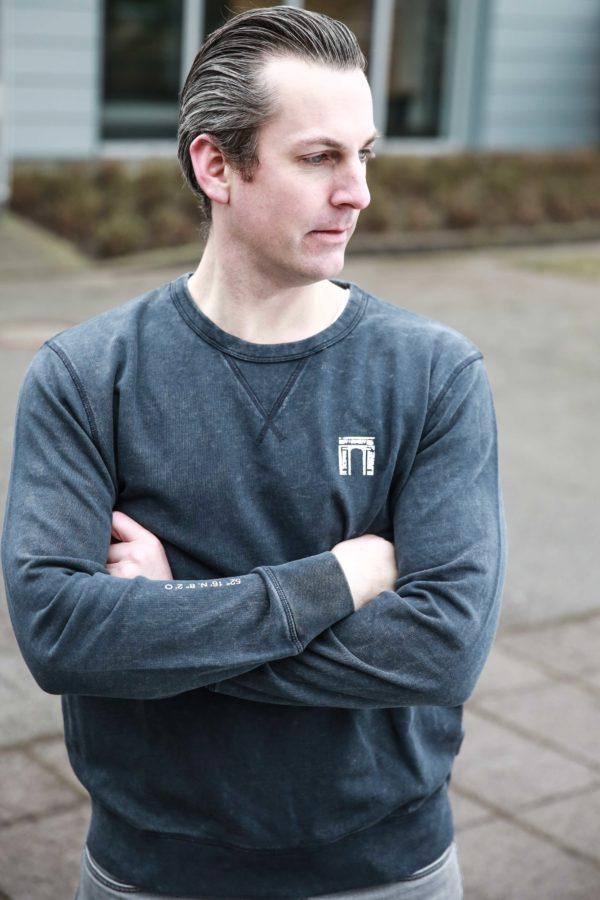 Waterloo Vintage Sweatshirt Grau