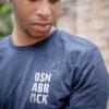 t-shirt nachtblau detail